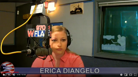 erica diangelo on the Business Happy Hour Radio Show